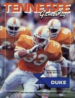 1988 Football Program - UT vs Duke