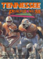 1987 Football Press Guide - UT vs Indiana (Peach Bowl)