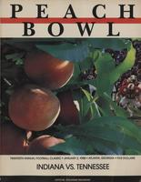 1987 Football Program - UT vs Indiana (Peach Bowl)