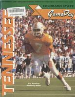 1987 Football Program - UT vs Colorado State