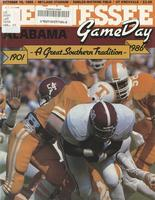 1986 Football Program - UT vs Alabama