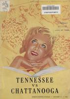 1951 Football Program - UT vs UT-Chattanooga