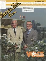 1985 Football Program - UT vs Georgia Tech