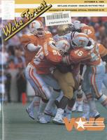 1985 Football Program - UT vs Wake Forest