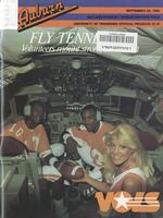 1985 Football Program - UT vs Auburn