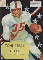 1951 Football Program - UT vs Duke