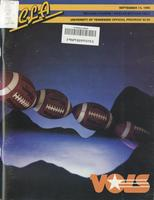 1985 Football Program - UT vs UCLA