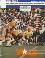 1984 Football Program - UT vs Kentucky