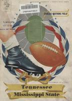 1951 Football Program - UT vs Mississippi State