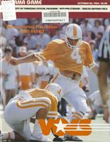 1984 Football Program - UT vs Alabama