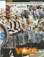 1984 Football Program - UT vs Army