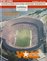 1984 Football Program - UT vs Utah