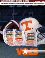 1984 Football Program - UT vs Washington State