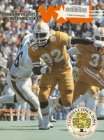 1983 Football Press Guide - UT vs Maryland (Citrus Bowl)