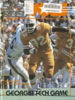 1983 Football Program - UT vs Georgia Tech