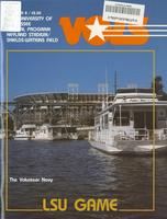 1983 Football Program - UT vs LSU
