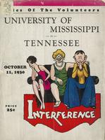 1930 Football Program - UT vs Mississippi