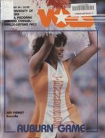1983 Football Program - UT vs Auburn