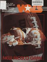 1983 Football Program - UT vs New Mexico