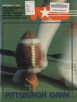 1983 Football Program - UT vs Pittsburgh