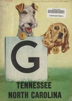 1950 Football Program - UT vs North Carolina