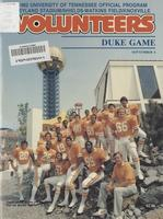 1982 Football Program - UT vs Duke