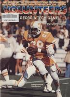 1981 Football Program - UT vs Georgia Tech