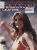 1981 Football Program - UT vs Auburn