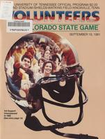 1981 Football Program - UT vs Colorado State