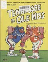 1980 Football Program - UT vs Mississippi (at Memphis)