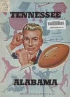 1950 Football Program - UT vs Alabama