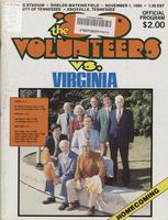 1980 Football Program - UT vs Virginia
