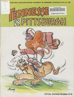 1980 Football Program - UT vs Pittsburgh