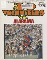 1980 Football Program - UT vs Alabama