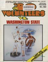 1980 Football Program - UT vs Washington State