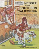 1980 Football Program - UT vs Southern California
