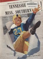 1950 Football Program - UT vs Southern Mississippi