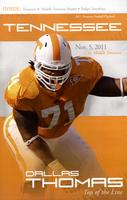 2011 Football Program - UT vs MTSU