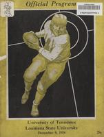 1934 Football Program - UT vs LSU