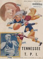 1949 Football Program - UT vs Tennessee Tech