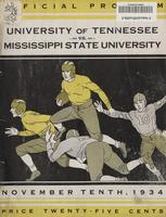 1934 Football Program - UT vs Mississippi State