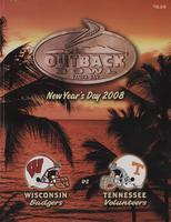 2007 Football Program - UT vs Wisconsin (Outback Bowl)