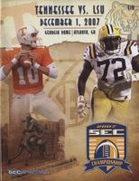 2007 Football Program - UT vs LSU (SEC Championship)