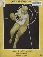 1934 Football Program - UT vs Duke