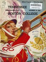 1947 Football Program - UT vs Boston College