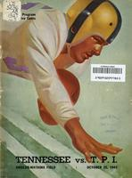 1947 Football Program - UT vs Tennessee Tech