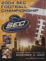 2004 Football Program - UT vs Auburn (SEC Championship)