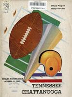 1947 Football Program - UT vs UT-Chattanooga