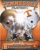 2004 Football Program - UT vs Notre Dame