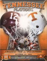 2004 Football Program - UT vs Alabama